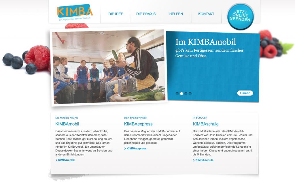 Kimba Website Screenshot